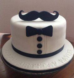 Order Mustache Fondant Cake online from Cake Express and get home delivery any where in Delhi, Noida, Ghaziabad, Faridabad, Gurugram and Greater Noida. Mustache Fondant Cake can be delivery in midnight . Birthday Cakes For Men, Cakes For Boys, Birthday Cupcakes, Men Birthday, Fondant Man, Fondant Cakes, Cupcake Cakes, Moustache Cake, Mustache Man