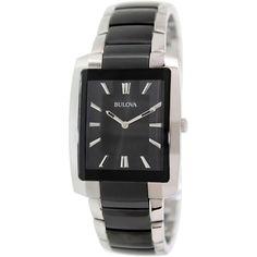 Bulova Men's Dress 98A117 Black Stainless-Steel Quartz Watch