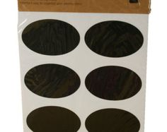 48 tableau ovale étiquettes / / stickers ardoise par HandStampOlogy
