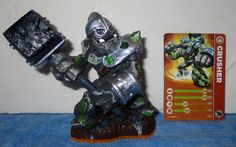 Skylanders CRUSHER Figurine & Stat Card Wii PS3 PS4 XBox 360 3DS 2012  SB10 #Activision