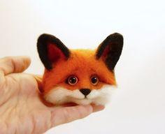 Felt Wool Fox 3D Brooches Felt Fox Animals от SvetlanaToys