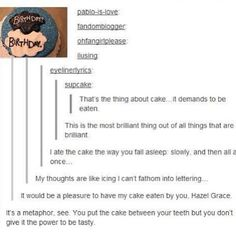 That's the thing about cake..