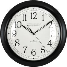 """Contemporary 11"""" Wall Clock with Whisper Technology 