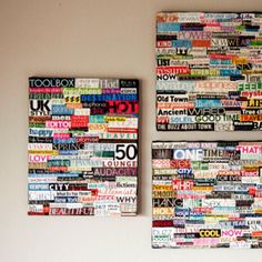 DIY collage art using recycled magazines and canvas Recycled Magazines, Old Magazines, Art Diy, Diy Wall Art, Wall Decor, Paper Art, Paper Crafts, Diy Crafts, Upcycled Crafts