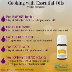 Young Living Essential Oils: Cooking with Essential Oils