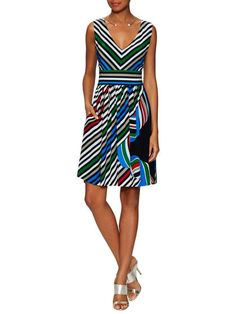 Striped A-Line Dress by Piazza Sempione at Gilt