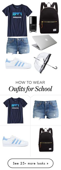 """""""Back To School Set"""" by lolpaula on Polyvore featuring Levi's, Patagonia, adidas, Herschel Supply Co. and Fulton"""