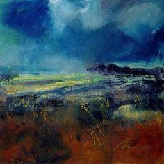 "Blue Contempo #2 by Richard Morin Oil ~ 12"" x 12"""