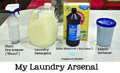 Homemade Laundry Products Line-Up from someone who actually uses them.