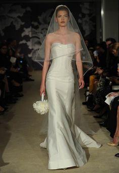 Architectural Modern Wedding Dress | Carolina Herrera Spring 2015 | See More! http://heyweddinglady.com/bridal-market-2015-three-fab-wedding-dress-trends/