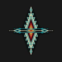 Check out this awesome 'Native+American+Style+Mandala+in+Turquoise+and+Black' design on @TeePublic!