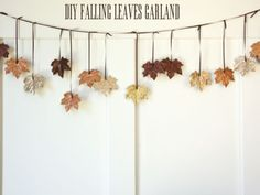 Add a shimmer to fall foliage by applying Elmer's glue and sprinkling glitter over your leaves.  Get the tutorial at 6th Street Design School.
