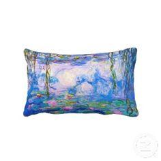 Water Lilies Claude Monet Throw Pillow