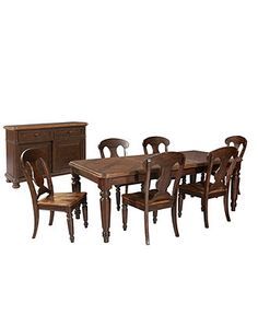Firenze Dining Room Furniture, 8 Piece Set (Table, 6 Side Chairs, and Credenza) - Dining Room Furniture - furniture - Macy's