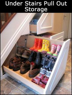 Make Use of The Space Under Your Stairs by Building This Practical Pull-Out Storage