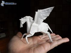 origami winged horse - Google Search