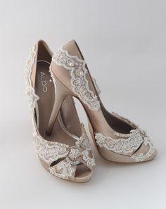 Wedding Shoes Custom Order Lace Crystals Swarovski by Parisxox, $210.00