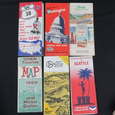Vintage 1955-1974 Tourist Maps Brochures Washington by CheekyBirdy
