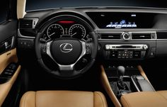 The cockpit in the Lexus GS 450h is comfortable and very driver-focused