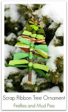 Scrap Christmas twig