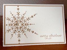 """Die schlichte Karte Weihnachten III, """"Dazzling Snowflake"""" von Memory Box"""