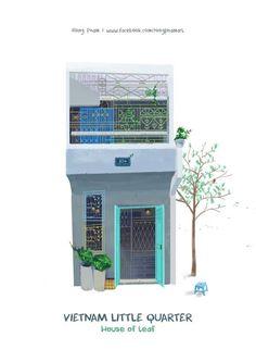 Vietnam Little Quarter I Kín Illustration