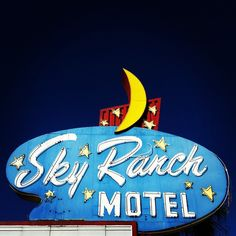Sky Ranch Motel vintage neon sign -- on East Fremont Street in Las Vegas Old Neon Signs, Vintage Neon Signs, Old Signs, Las Vegas, Vegas Sign, Nevada, Le Ranch, Retro Advertising, Roadside Attractions