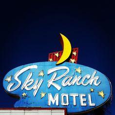 Sky Ranch Motel vintage neon sign -- on East Fremont Street in Las Vegas by MOLLYBLOCK, via Flickr
