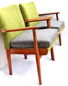 Danish teak chairs, 60s