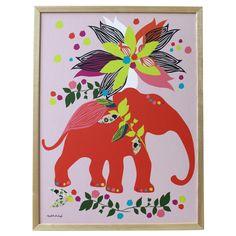 Elizabeth Grubaugh Elephant Canvas Wall Art #laylagrayce