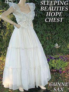 d01ac70e2cf Vintage Size 9 1970 s Gunne Sax Wedding Dress by Jessica McClintock Gunne  Sax