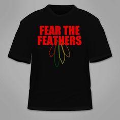 Fear The Feathers Chicago Blackhawks TShirt. by TSL21 on Etsy, $19.00