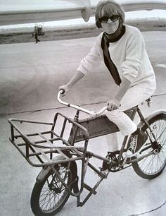 Brian Jones rides a bike.
