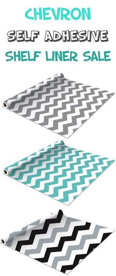 Chevron Self Adhesive Shelf Liner 2-pack Sale: $10.99!  {a fun way to add some flair to kitchen cabinets, bookshelves, doll houses, etc!}