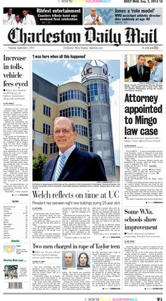 The top story Thursday is the appointment of a special prosecutor to the Mingo County election law violation case.  Mingo County Prosecutor Michael Sparks said Wednesday he recently asked the Mingo Circuit Court to disqualify him from helping the Secretary of State in its investigation. Also, University of Charleston President Ed Welch reflects on his 25 years at the university.