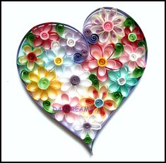 'Quilling' an Amazing form of Paper Art Origami And Quilling, Paper Quilling Designs, Quilling Paper Craft, Quilling Patterns, Quilling Cards, Paper Crafts, Quilling Ideas, Quilling 3d, Valentine Decorations