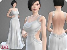 Wedding Dress 10 RECOLOR 3 by Colores Urbanos at TSR • Sims 4 Updates