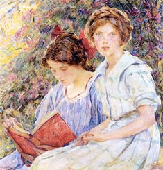 Two Women Reading Robert Lewis Reid