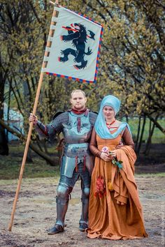 Andrey Kamin and his wife Catherine Brooks at the Tournament of St George 2015 in Moscow, Russia(photo by Andrew Boykov/Ratobor Show)