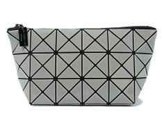 df1baedce964 BAO BAO ISSEY MIYAKE Pouch Clutch Bag BILBAO LUCENT-1 BB41AG301 Gray Grey  JAPAN