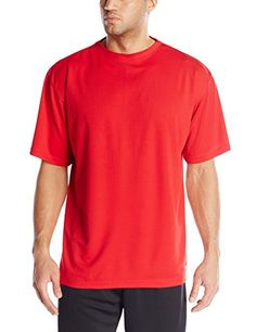 Russell Athletic Mens BigTall DriPower Short Sleeve Crew CardinalRed XLargeTall -- Read more at the image link. #MenFashion