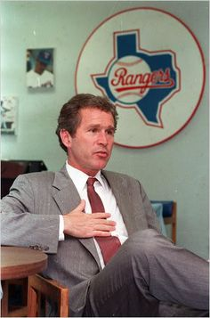 Handsome young man! George W. Bush in 1989, after baseball owners approved his partnership's purchase of the Rangers