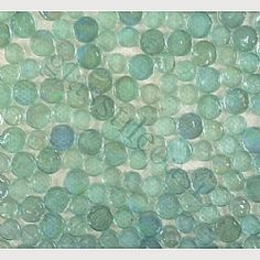 Glass tile for bathroom accent or kitchen backsplash. With an off white, light sand colored grout. #Glass #Tile