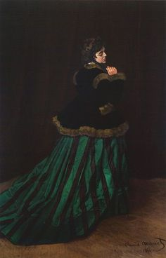 Claude Monet - The Woman in the Green Dress