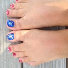 Fireworks! Manicure, Nails, July 4th, Memorial Day, Fireworks, Nail Ideas, Ava, Fashion Beauty, Stripes