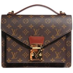 LOUIS VUITTON Vintage Monogram Monceau ❤ liked on Polyvore featuring bags, handbags, tote bags, handbags totes, vintage tote, brown purse, louis vuitton handbags and tote handbags