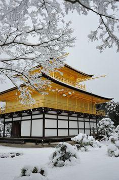 雪の金閣寺 Kinkakuji temple in snow   Flickr - Photo Sharing!