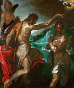 Baptism of Christ by Bartholomeus Spranger, 1603 (PD-art/old), Muzeum Narodowe we Wrocławiu (MNWr)