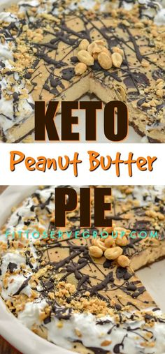 Decadent, that's the best way to describe this keto peanut butter pie. One bite and your taste buds will think you've been cheating but fortunately your'e not because this is a low carb peanut butter pie! I dare say it rivals any high carb option. Keto Friendly Desserts, Low Carb Desserts, Low Carb Recipes, Dessert Recipes, Dinner Recipes, Brownie Recipes, Dessert Ideas, Cookie Recipes, Snack Recipes