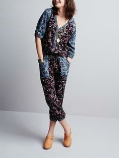 Jumpsuits are even cuter with a floral pattern.